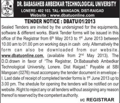 Supply of Software equipments (Dr Babasaheb Ambedkar Technological University, Lonere)