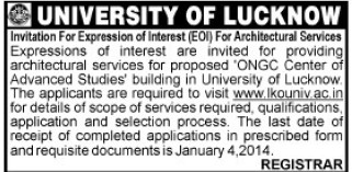 Architectural services (Lucknow University)