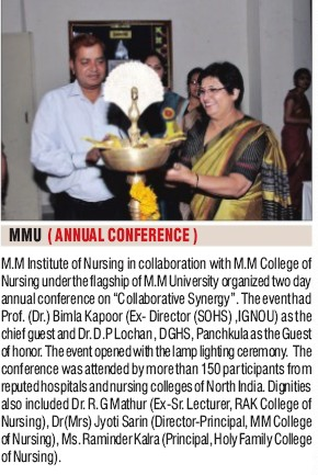 Annual Conference held (MM College of Nursing (MMCN))