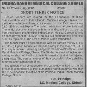 Fabricatio of blood transportation (Indira Gandhi Medical College (IGMC))