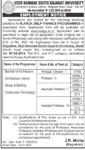 Bachelor of Architecture (Veer Narmad South Gujarat University)