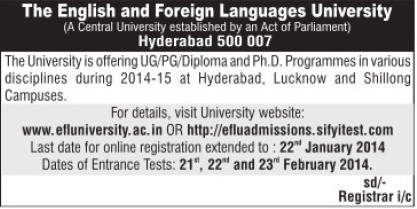PhD Programme (English and Foreign Languages University)