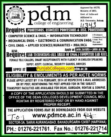 Asstt Professor in Applied Science (PDM College of Engineering)