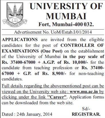 Controller of Examination (University of Mumbai (UoM))