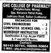 Workshop Instructor (AS College)