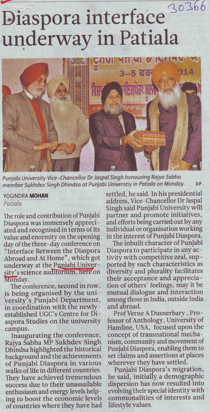Diaspora interface underway in Patiala (Punjabi University)