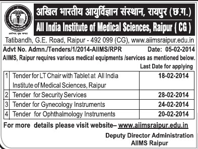 Supply of Medical equipments (All India Institute of Medical Sciences (AIIMS))