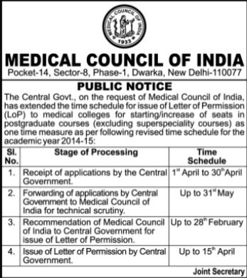 Postgraduate Courses (Medical Council of India (MCI))