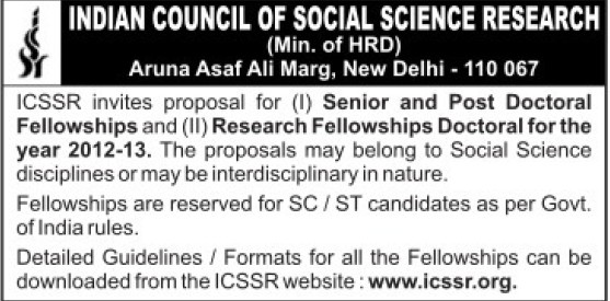 Proposal for Senior Doctoral Fellowship (Indian Council of Social Science Research)