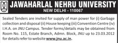 House keeping works (Jawaharlal Nehru University)