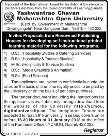 BSc in Food Sciences (Yashwantrao Chavan Maharashtra Open University (YCMOU))