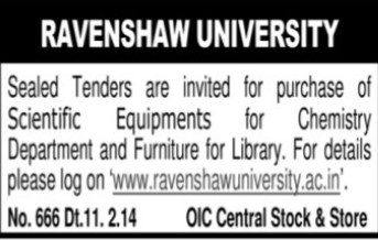 Scientific equipments for Chemistry Department (Ravenshaw University)