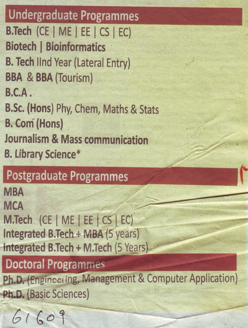 B Tech and B Com courses (Shri Ramswaroop Memorial Technical Campus)