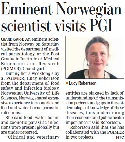 Eminent Norwegian scientist visits PGI (Post-Graduate Institute of Medical Education and Research (PGIMER))