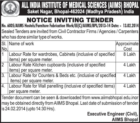Civil and Carpenters services (All India Institute of Medical Sciences (AIIMS))