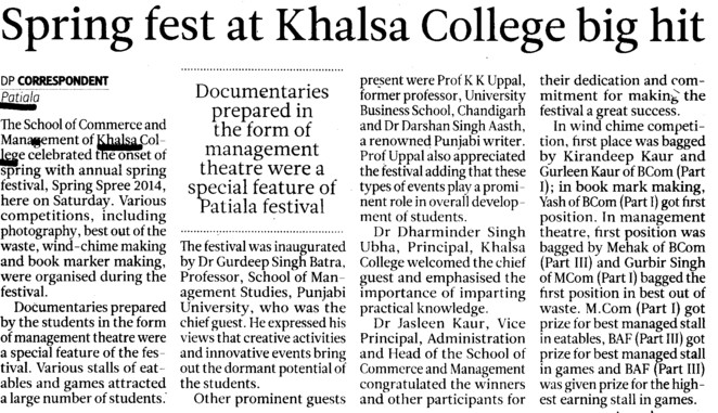 Spring Fest at Khalsa College (Khalsa College)