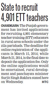 State to recruit 4901 ETT Teachers (ETT Teachers Union Punjab)
