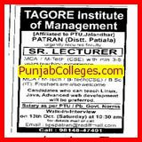 SR.LECTURER,LECTURER (Tagore Institute of Management and Technology)
