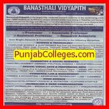 Research Associate and Asstt Professor (Banasthali University Banasthali Vidyapith)