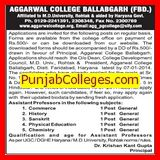 Asstt Professor in Physical Education (Aggarwal Post Graduate College)