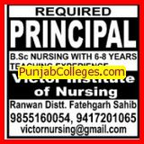 Principal required (Victor Institute of Nursing)