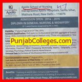 Diploma in General Nursing and Midwifery (Apollo School of Nursing)