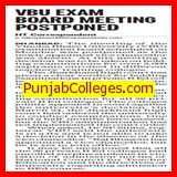 VBU exam board meeting postponed (Vinoba Bhave University)