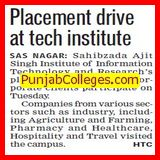 Placement drive at Technical Institute (Sahibzada Ajit Singh Institute of Information Technology)