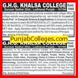 Asstt Professor in computer science (GHG Khalsa College)