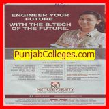 B Tech in CSE and ECE (NIIT University)