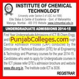 B Tech and B Pharm programme (Institute of Chemical Technology)