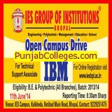 Open campus drive for IBM (IES Group of Institutions)