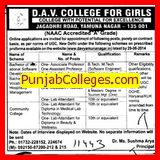 Bachelor of vocational hospitality management (DAV College for Girls)