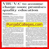 VC to assume charge soon (Vinoba Bhave University)