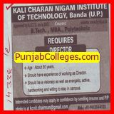 Experienced Director required (Kali Charan Nigam Institute of Technology (KCNIT))