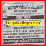 Principal and Asstt Professor (Saraswati College of Management and Computer Science)