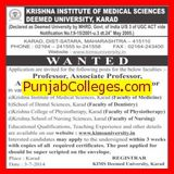 Asstt Professor and Senior Resident (Krishna Institute of Medical Sciences University KIMS)