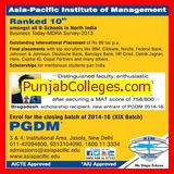 Post Graduate Diploma in Management (Asia Pacific Institute of Management)