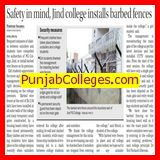 Safety in mind, jind college installs barbed fences (Government Post Graduate College)