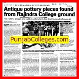 Antique pottery pieces found from Rajindra College ground (Government Rajindra College)