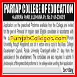Principal on regular basis (Partap College of Education)
