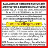 M Arch in Urban Design (Kamla Raheja Vidhyandhi Institute for Architecture and Environmental Studies (KRVIA))