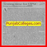 Testing time for UPSC (Christ UPSC Academy)